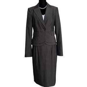 MEXX  Dark Gray Career Skirt Suit 8